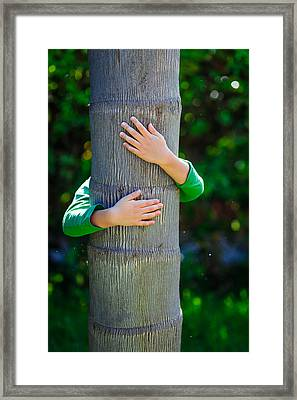Child And Tree Framed Print