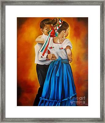 Child Dancers  Framed Print by Barbara  Rivera