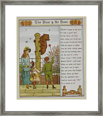 Child Feeding A Bear At London Zoo Framed Print by British Library