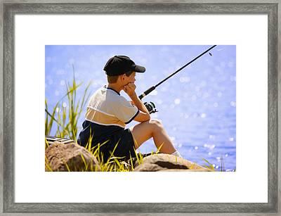 Child Fishing Framed Print by Don Hammond