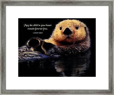 Child In Your Heart Framed Print