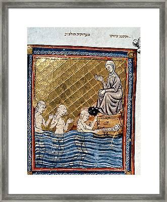 Child Moses In Nile Framed Print by Granger