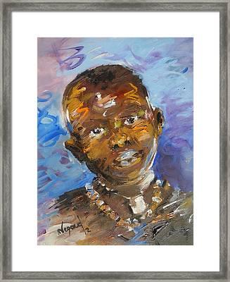 Child Framed Print by Negoud Dahab