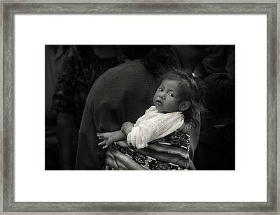 Child Of Chichicastenango Framed Print by Tom Bell