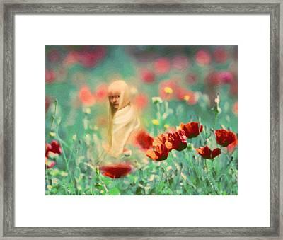 Child Of Innocence Framed Print by Georgiana Romanovna