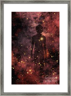 Child Of The Cosmos Framed Print by Lynette Cook