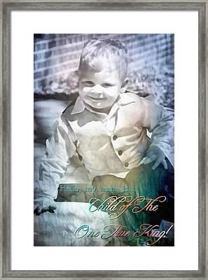 Child Of The One True King Framed Print by Michelle Greene Wheeler
