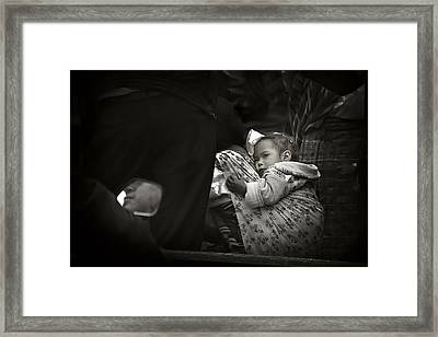 Child  On A Journey Framed Print by Tom Bell