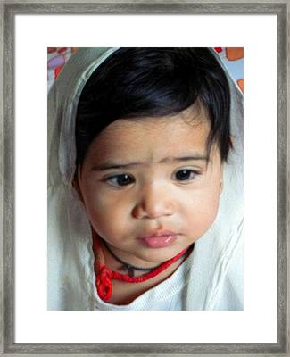 Child Portrait Framed Print by Makarand Purohit