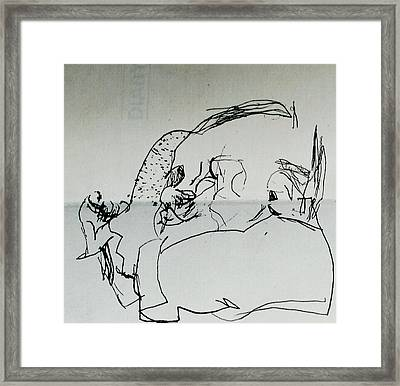 Child Sleeping Framed Print by Godfrey McDonnell