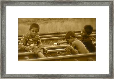 Child Smoker  Framed Print by Masum Rumi