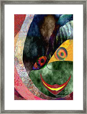 Child With Bright Shadow - Kind Mit Lichtem Schatten Framed Print by Mojo Mendiola