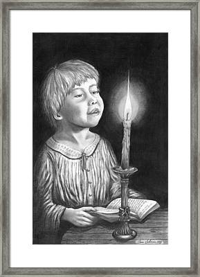 Child With Divine Mesmorization Framed Print