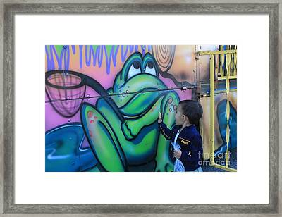 Child With Graffiti Framed Print by Lotus