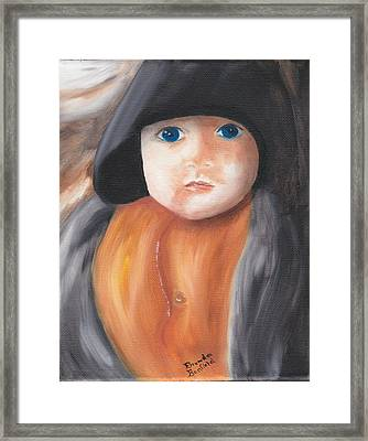 Child With Hood Framed Print