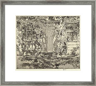 Childe Hassam, Old Doorway, East Hampton Framed Print by Quint Lox
