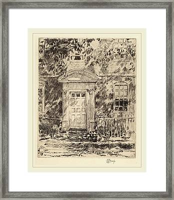Childe Hassam, Portsmouth Doorway, American Framed Print by Litz Collection
