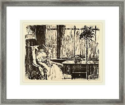 Childe Hassam, The Broad Curtain, American Framed Print by Litz Collection