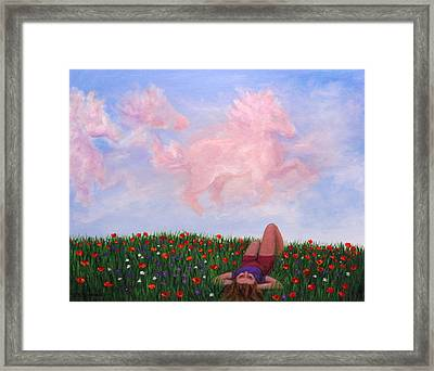 Childhood Day Dreams Framed Print