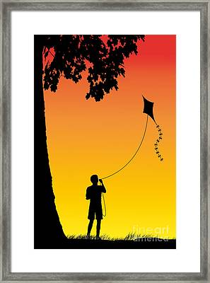 Childhood Dreams 1 The Kite Framed Print