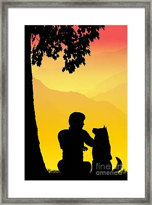 Childhood Dreams 4 Best Friends Framed Print by John Edwards