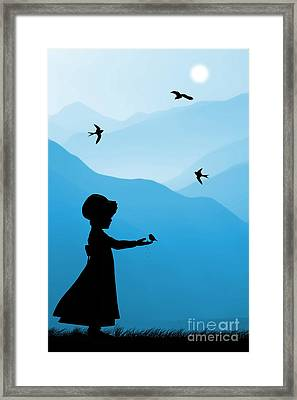 Childhood Dreams 5 Feeding Time Framed Print by John Edwards