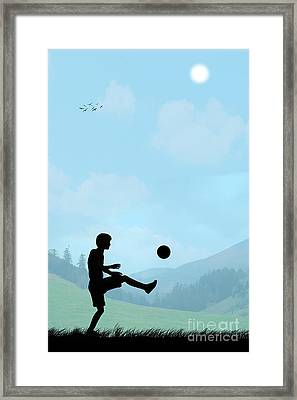 Childhood Dreams Football Framed Print by John Edwards