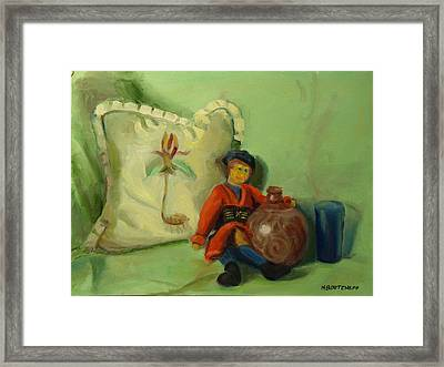 Childhood Dreams Rag Doll Framed Print