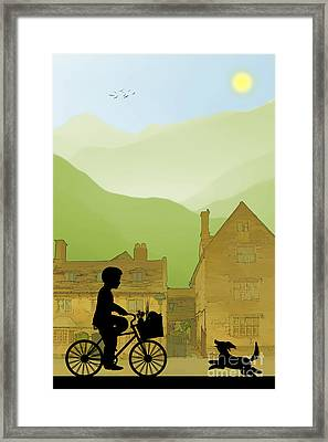 Childhood Dreams Special Delivery Framed Print