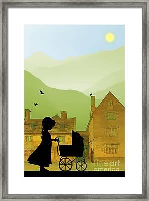 Childhood Dreams The Pram Framed Print