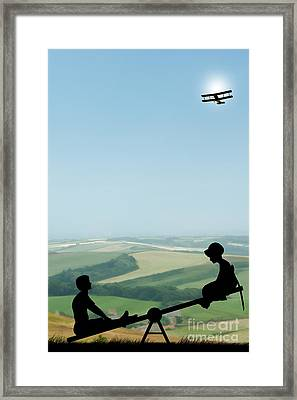 Childhood Dreams The Seesaw Framed Print by John Edwards