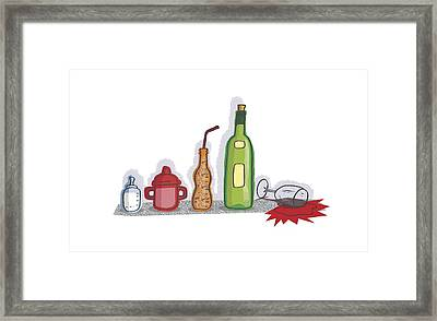 Childhood Drinking Habits, Artwork Framed Print by Science Photo Library