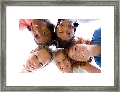 Childhood Friends Framed Print by Ian Hooton/science Photo Library