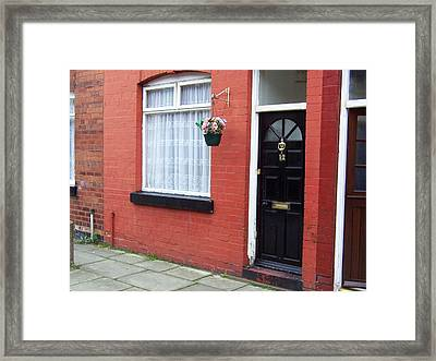 Childhood Home Of George Harrison Liverpool Uk Framed Print by Steve Kearns