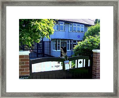 Childhood Home Of John Lennon Liverpool Uk Framed Print by Steve Kearns