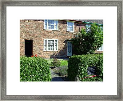 Childhood Home Of Paul Mccartney Liverpool Uk Framed Print by Steve Kearns