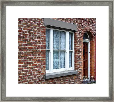 Childhood Home Of Ringo Starr Madryn St Liverpool Uk Framed Print by Steve Kearns