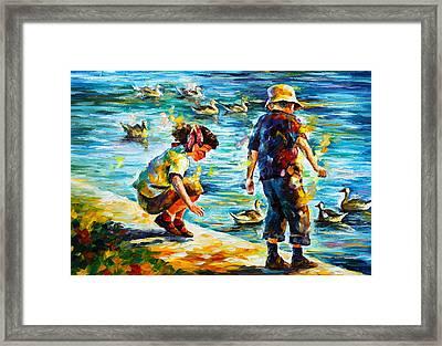 Childhood Framed Print by Leonid Afremov