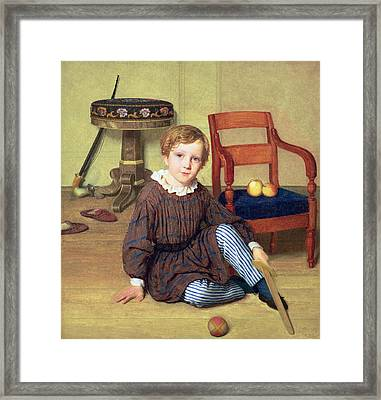 Childhood Framed Print by Ludvig August Smith