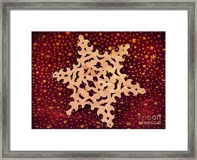 Childhood Memories Paper Snowflake  Framed Print