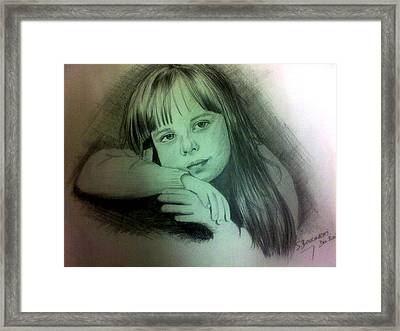 Childhood Framed Print by Soumya Bouchachi