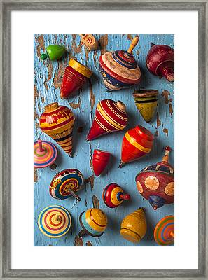 Childhood Tops Framed Print by Garry Gay