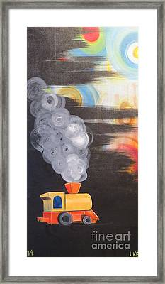 Childhood Train Framed Print by Laura Enninga