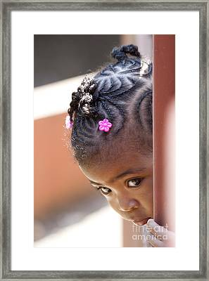 Childlike Curiosity Framed Print by Heiko Koehrer-Wagner