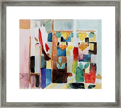 Children At The Greengrocers I Framed Print