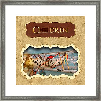 Children Button Framed Print by Mike Savad