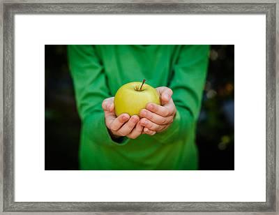 Children Hands Framed Print