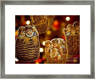 Children In Baskets Framed Print by Amy Cicconi