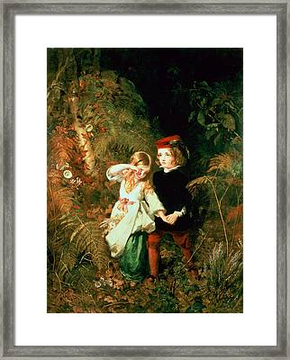 Children In The Wood Framed Print by James Sant