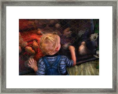 Children - Look At The Baby Framed Print by Mike Savad